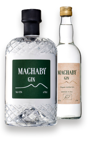 Machaby Gin flasker front